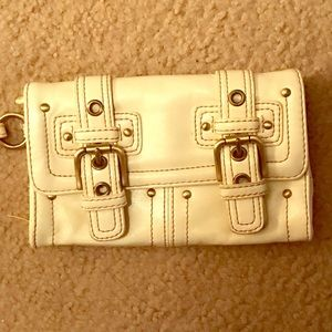 Cream and Gold Wristlet